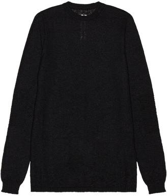 Rick Owens Biker Level Roundneck Sweater in Black | FWRD