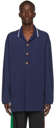 Gucci Blue Pique Polo