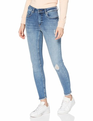Only Women's onlBLUSH MID SK ANK RAW JEANS REA333NOOS Skinny Skinny Jeans