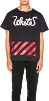Off-White White Patchwork Tee in Black