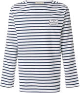 MAISON KITSUNÉ striped long-sleeve sweater