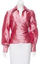 Carolina Herrera Silk Wrap Top
