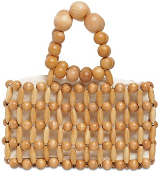 Cult Gaia Cora Wooden Beads Clutch