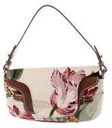 Valentino Floral Canvas Catch Bag