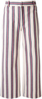Tory Burch striped print trousers - women - Cotton/Spandex/Elastane/Polyester - 4