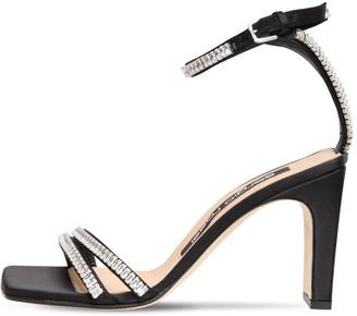 Sergio Rossi 85mm Embellished Satin Sandals