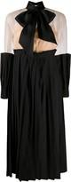 Seen Users pleated panel midi dress