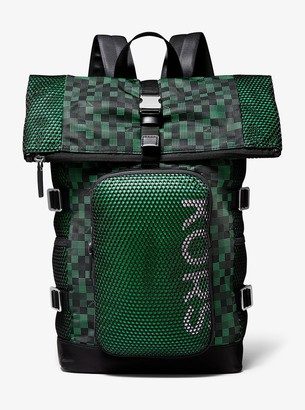 Michael Kors Kent Printed Roll Top Backpack