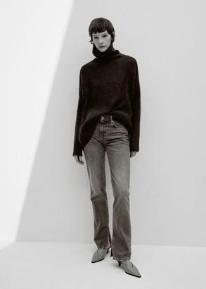 MANGO Heel leather mules grey - 6A - Women