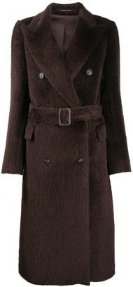 Tagliatore Belted Fur Coat