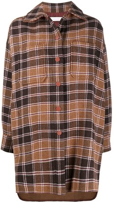 See by Chloe Oversized Plaid Shirt Coat