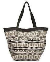 Esprit New Women's Flavia Shopper Cabas Textile In Black