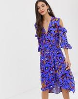 Closet London Closet a-line wrap dress