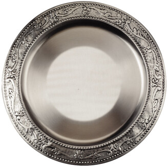 Old Dutch Set Of 6 Antique Embossed Victoria Charger Plates