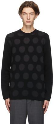 Comme des Garçons Homme Deux Black Polka Dot Sweater