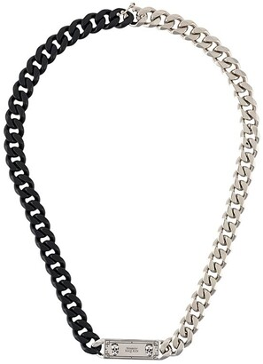 Alexander McQueen Identity curb chain necklace