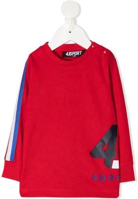 Cesare Paciotti 4us Kids Logo Print Long-Sleeved Top