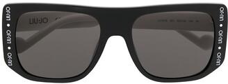Liu Jo Square Frame Logo Print Sunglasses
