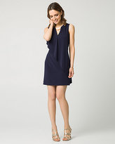Le Château Knit Pleated V-Neck Cocktail Dress