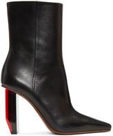Vetements Black & Red Reflector Heel Boots