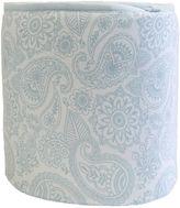 Living Textiles Paisley 2-Piece Jersey Cot Bumper Set, Blue Replica