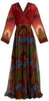 Valentino Enchanted Wonderland V-neck silk gown