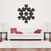 IconWallStickers Snowflake Kaleidoscope Patterned Christmas Wall Sticker Seasonal Decor Art Decal available in 5 Sizes and 25 Colours X-Large Ocean Blue