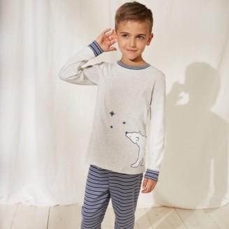 The White Company Bear Pyjamas (1-12yrs), Blue/Grey, 2-3yrs