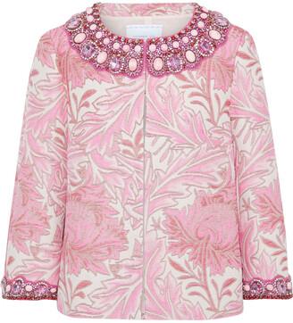 Andrew Gn Embellished Metallic Cotton-blend Jacquard Jacket