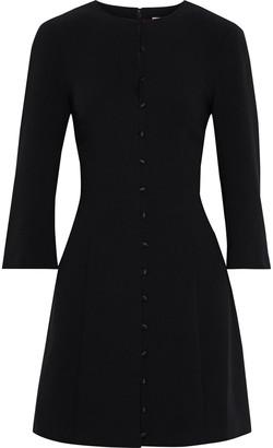 Cinq à Sept Shauna Button-detailed Crepe Mini Dress
