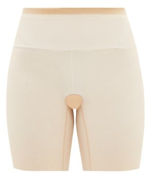 Wolford Tulle Shapewear Shorts - Nude