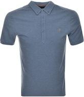 Farah Merriweather Polo T Shirt Blue
