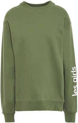 Les Girls Les Boys Printed French Cotton-terry Sweatshirt