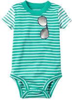 Carter's Striped Sunglasses Bodysuit