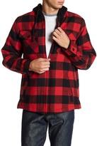Burnside Faux Shearling Lined Flannel Jacket