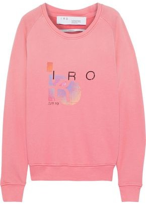 IRO Advent Printed French Cotton And Modal-blend Terry Sweatshirt