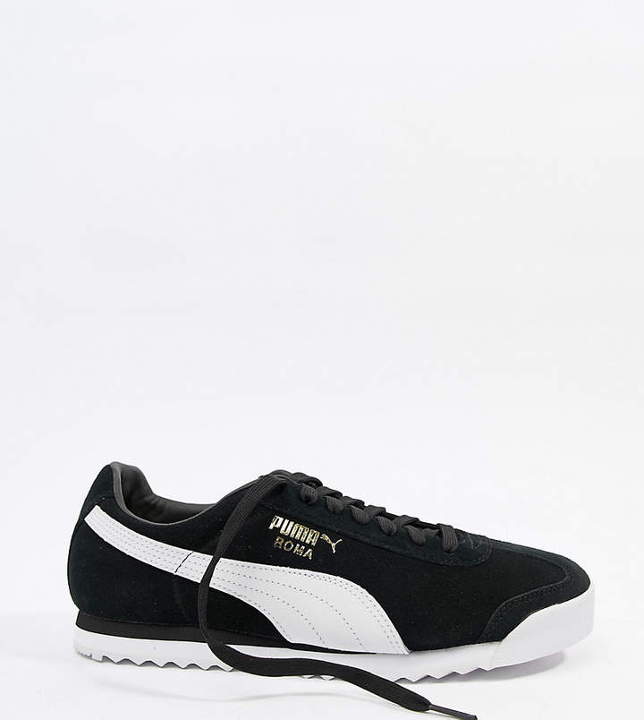 san francisco 4b3c7 b4e0a roma suede sneakers in black