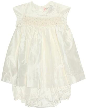 Bonpoint Baby Maruska silk dress and bloomers set