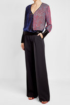 Diane von Furstenberg Blouse with Velvet and Silk