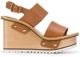Chloé buckle wedge sandals