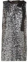 Miu Miu Sequinned Crepe Mini Dress - Womens - Silver