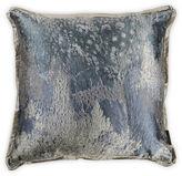 One Kings Lane Moiré Watery Blue Silk Pillow