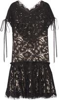 Wes Gordon Beatrix Corded Cotton-blend Lace Mini Dress - Black