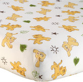 Disney Lion King Go Wild 100% Cotton Graphic-Print Fitted Crib Sheet