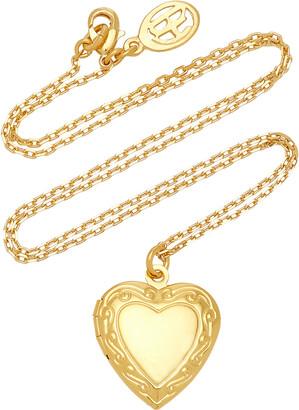 Ben-Amun Women's Medium Heart Locket Gold-Plated Necklace - Gold - Moda Operandi