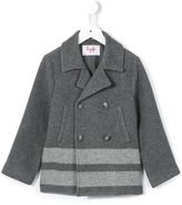 Il Gufo striped hem coat - kids - Wool/Polyamide/Viscose/Rayon - 8 yrs