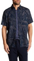Joe Fresh Palm Leaf Short Sleeve Standard Fit Shirt