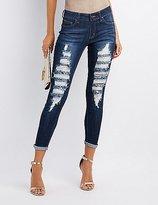 Charlotte Russe Destroyed Skinny Jeans