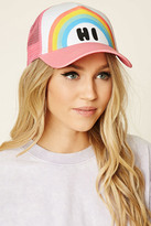 Forever 21 FOREVER 21+ HI Rainbow Graphic Trucker Hat
