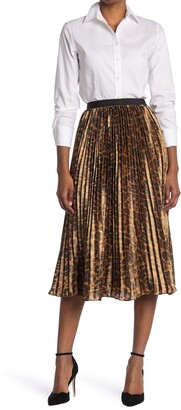 J.Crew Paulina Leopard Pleated Midi Skirt
